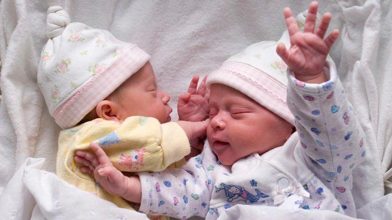 babák, ikrek