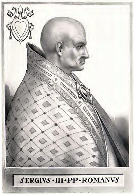 III. Sergius (forrás: Wikipedia)