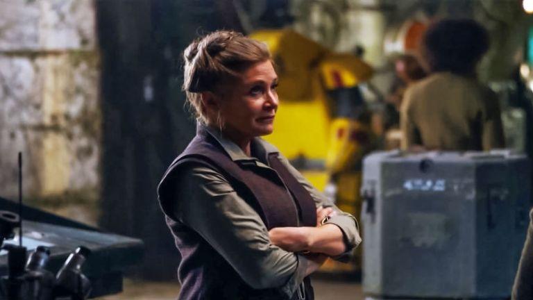 Carrie Fisher a Star Wars: Az ébredő Erőben (forrás: Fórum Hungary)