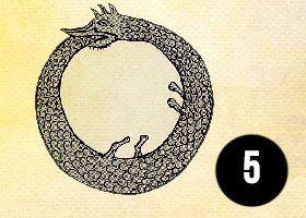 saját farkába harapó kígyó szimbólum