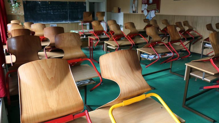 üres tanterem (fotó: MTI / Vajda János)