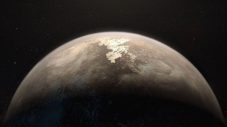 Fantáziarajz a Ross 128 B-ről (forrás: ESO / M. Kornmesser)