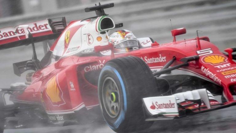 Sebastian Vettel, a Ferrari versenyzője a Hungaroringen (fotó: MTI / Czeglédi Zsolt)