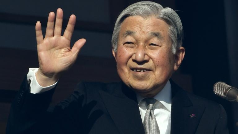 Akihito csásázr 2017 januárjában (fotó: AFP / Toshifumi Kitamura)