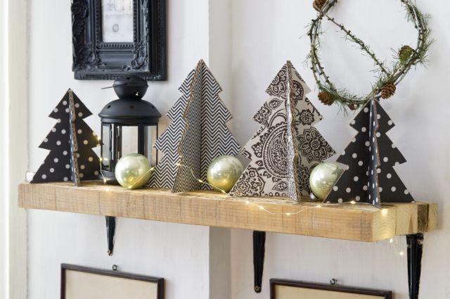 papír karácsonyfa