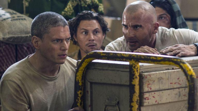 Wentwoth Miller és Dominic Purcell A szökés 5. évadában (forrás: Fox)