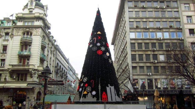 Belgrád, Szerbia, karácsonyfa (forrás: Balkaneu.com)