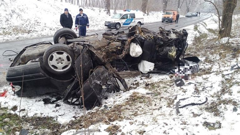 Dobogokő, baleset (forrás: police.hu)