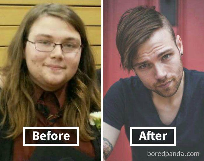arc fogyás előtt és után