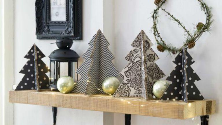 karácsonyfa papír