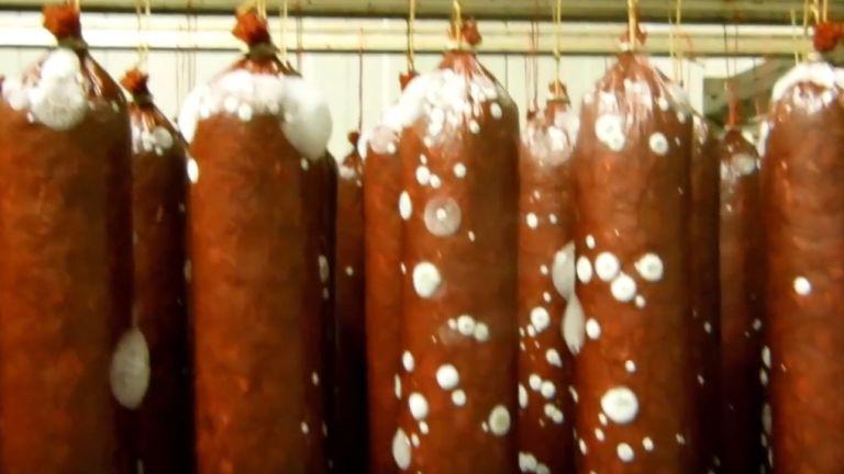 Nébih, penészes hús (forrás: Nébih)