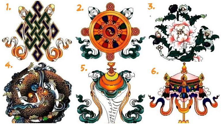 tibeti ősi szimbólumok szerencse teszt