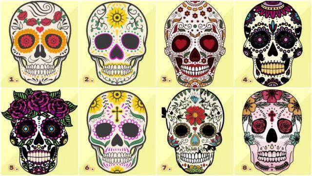 színes tetovált koponyák személyiség teszt