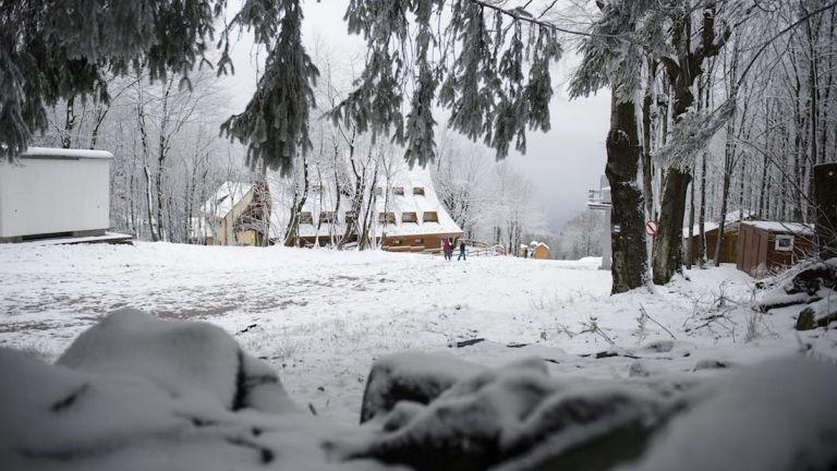 Kékestető, hó, Mátra (Fotó: MTI/Komka Péter)