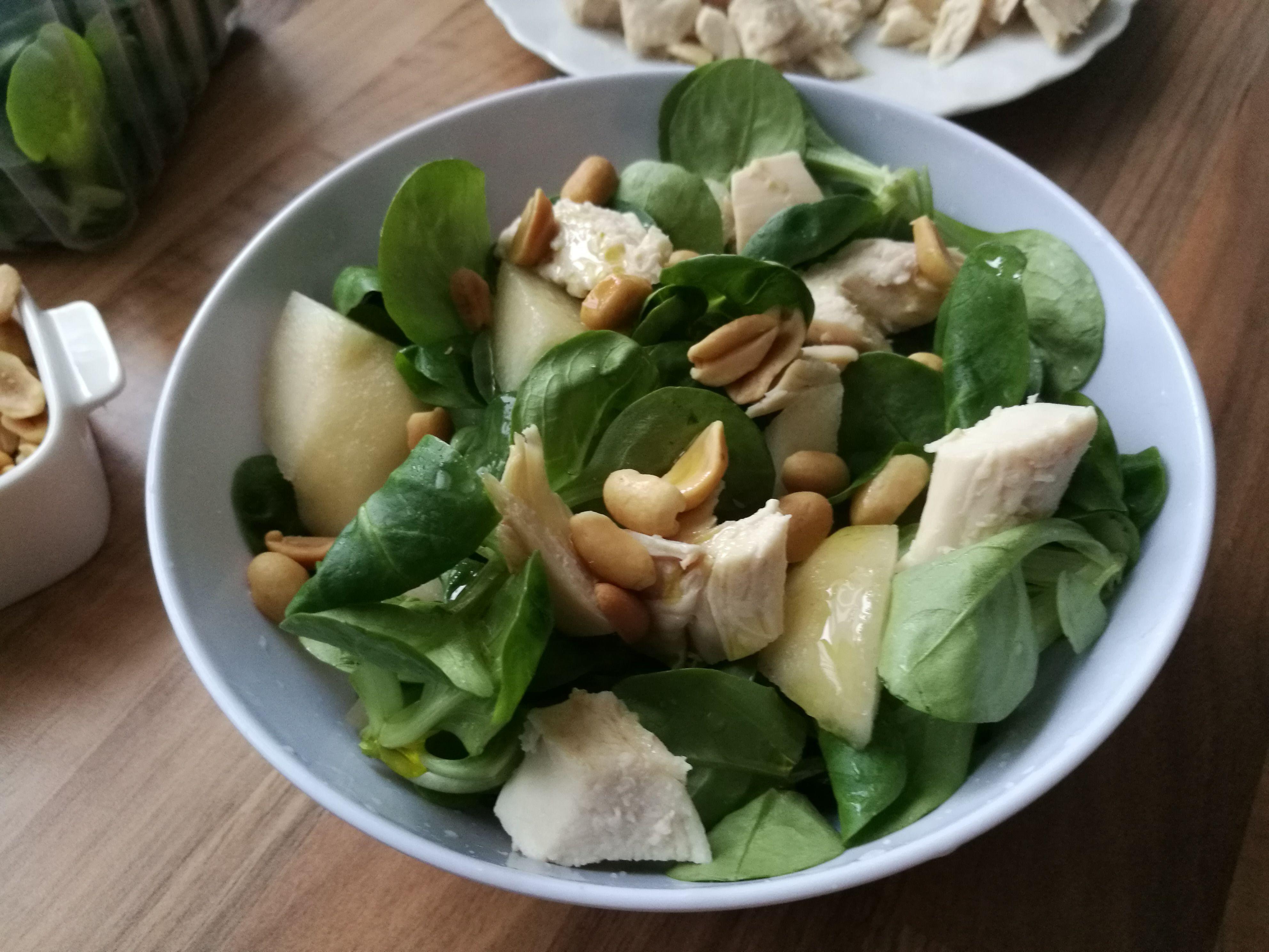 csirke körte saláta recept