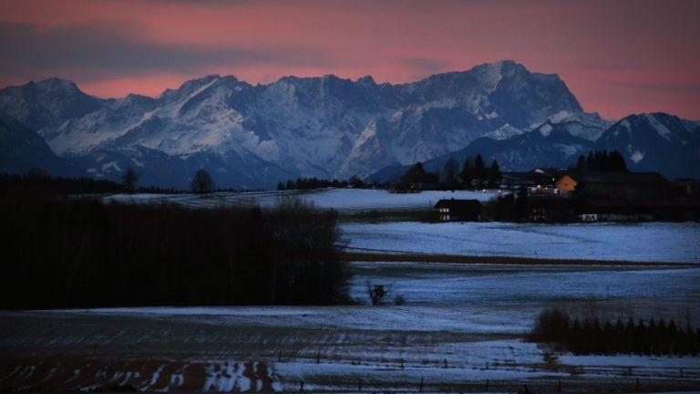 Zugspitze, Németország, hó (fotó: Stephan Jansen/dpa)