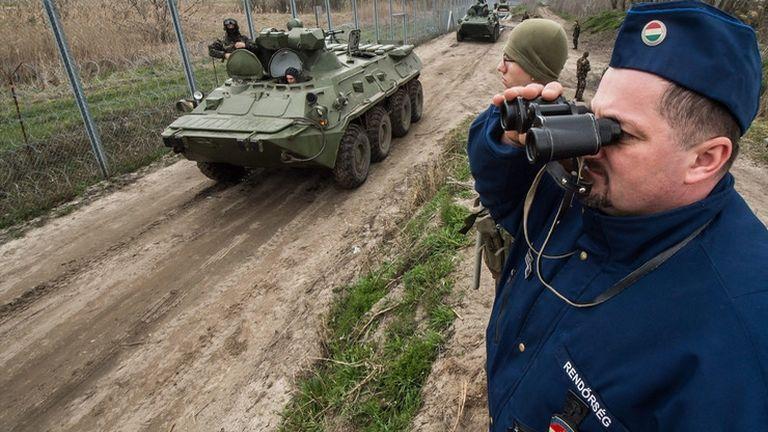 déli határ kerítés (fotó: MTI / Ujvári Sándor)