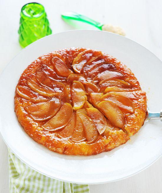 forditott almatorta recept tarte tatin francia édesség