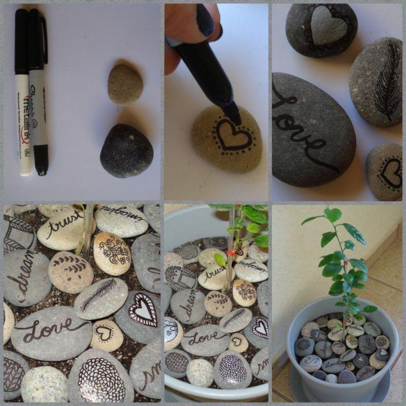 kavics dekoráció lakásdekor kavics kő
