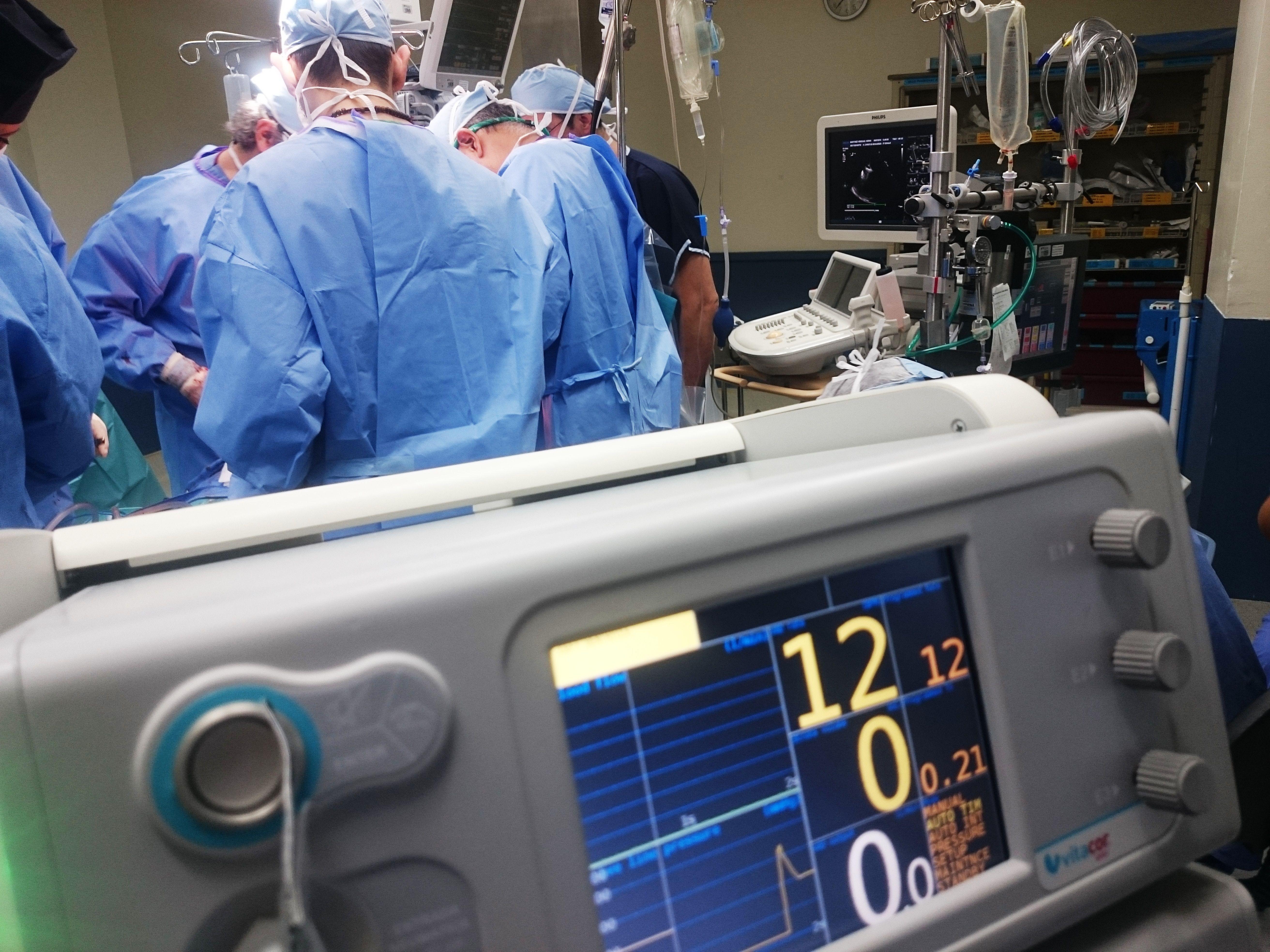 műtét operáció altatás