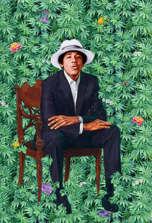 barack obama hivatalos portréja festmény