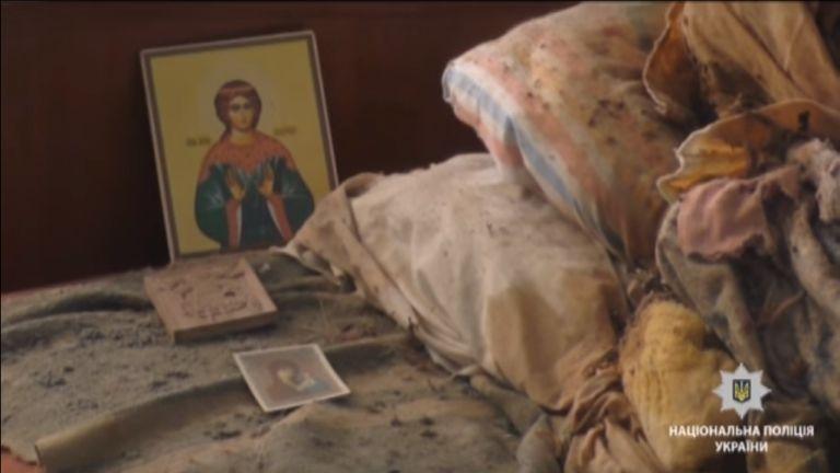 ukrán múmia (forrás: YouTube / ukrán rendőrség)