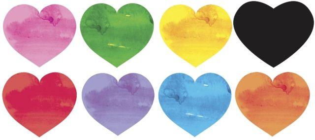 valentin nap jóslat színes szívek