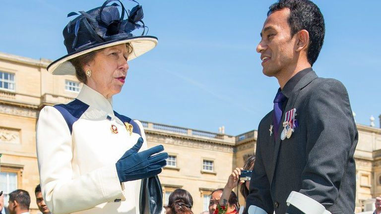 Anna hercegnő kabát II. Erzsébet lánya, hercegnő, anglia