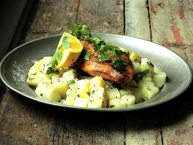 csirke és krumplisaláta recept ebed