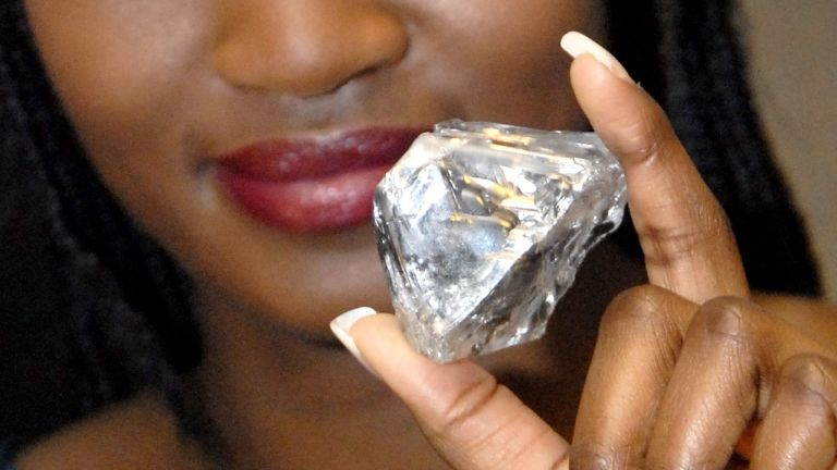 gyémánt, lesotho promise (fotó: AFP / Dirk Waem)