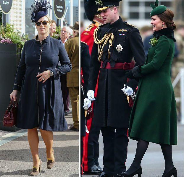 Boldog és divatos kismamák: Zara Phillips és Katalin hercegné