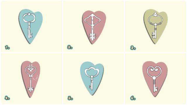 kulcsok szív személyiség teszt