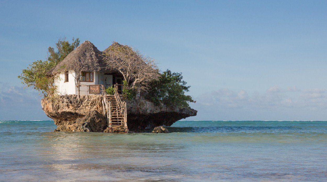 szikla étterem tenger zanzibar