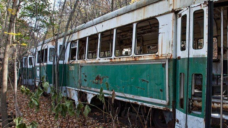 régi troli erdő amerika villamos