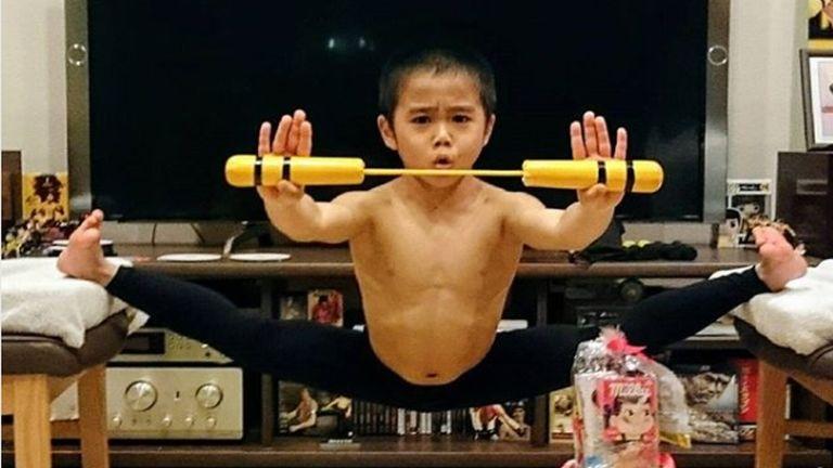 Bruce Lee gyerek (forrás: Instagram / ryuseiimai0416)
