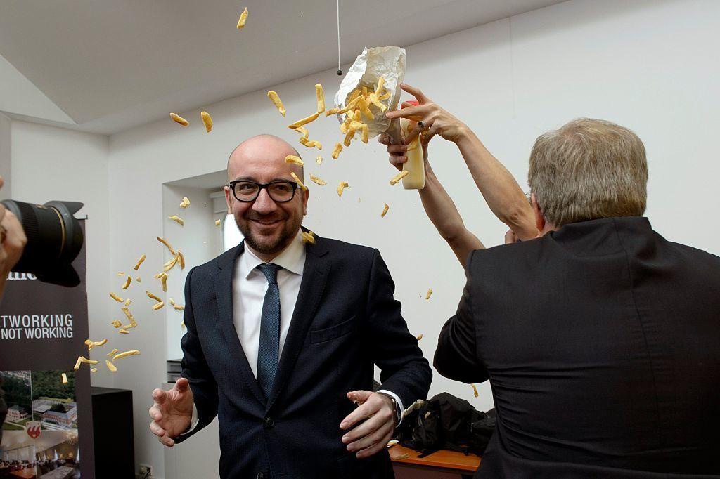 miniszterelnök belgium Charles Michel femen sült krumpli