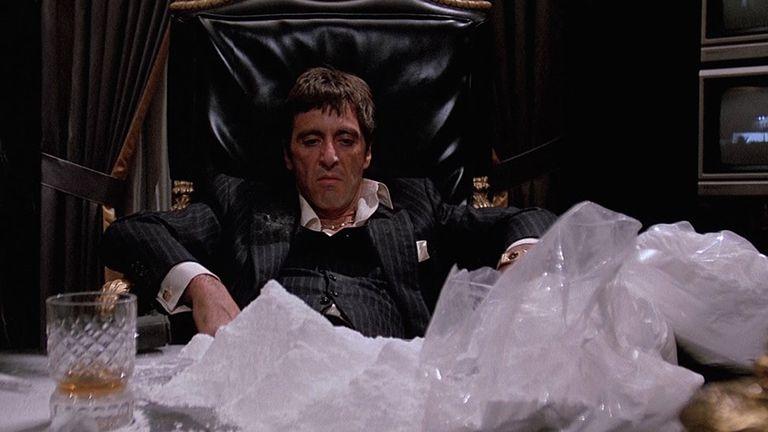 cocaine kokain scarface al pacino sebhelyes arcú