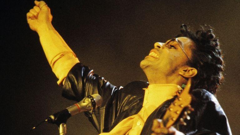 Prince, koncert, 1987 (fotó: AFP / Bertrand Guay)