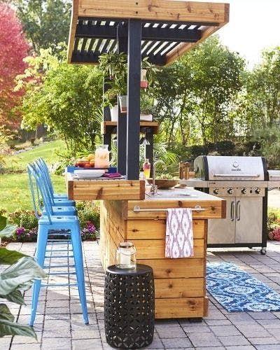 kültéri konyhák kert nyári szezon