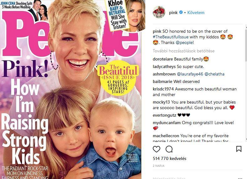 Pink gyermekei énekesnő people magazin