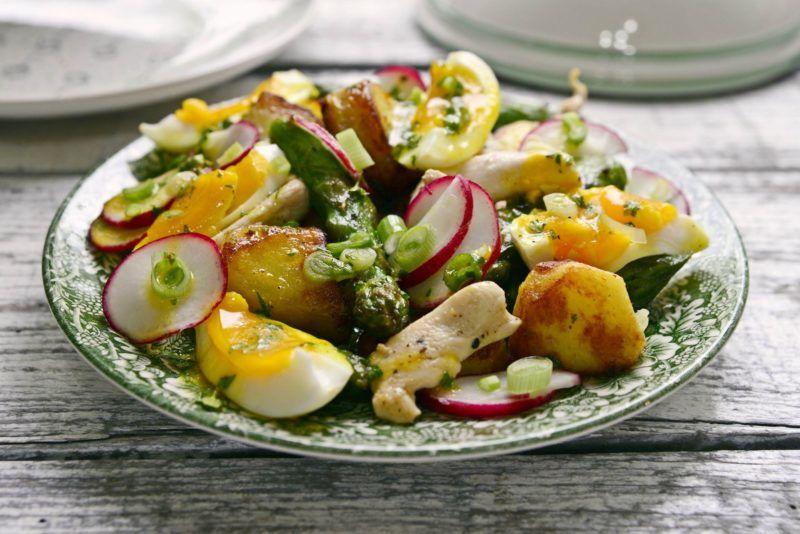 tavaszi salata retekkel recept