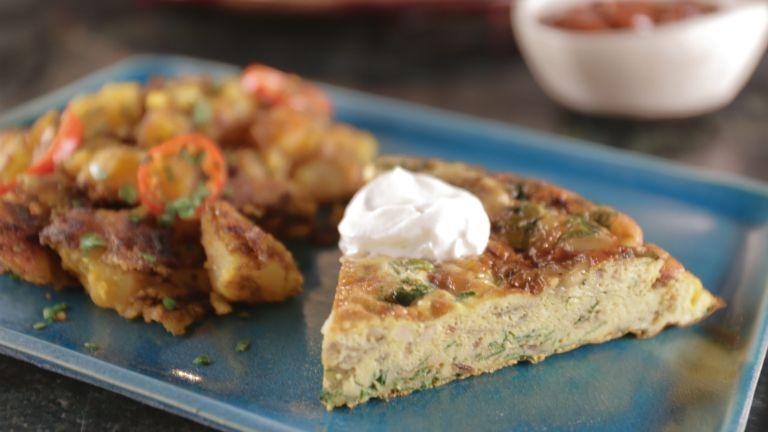 zoldfuszeres omlett recept