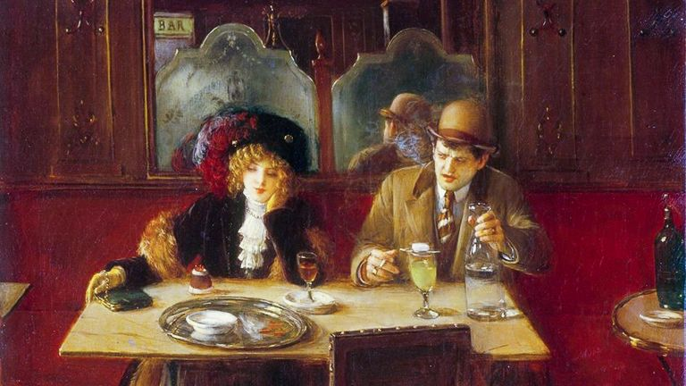 alkohol alkoholizmus absinthe abszint jean béraud festmény