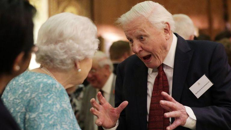 David Attenborough, II. Erzsébet (fotó: AFP / Yui Mok)