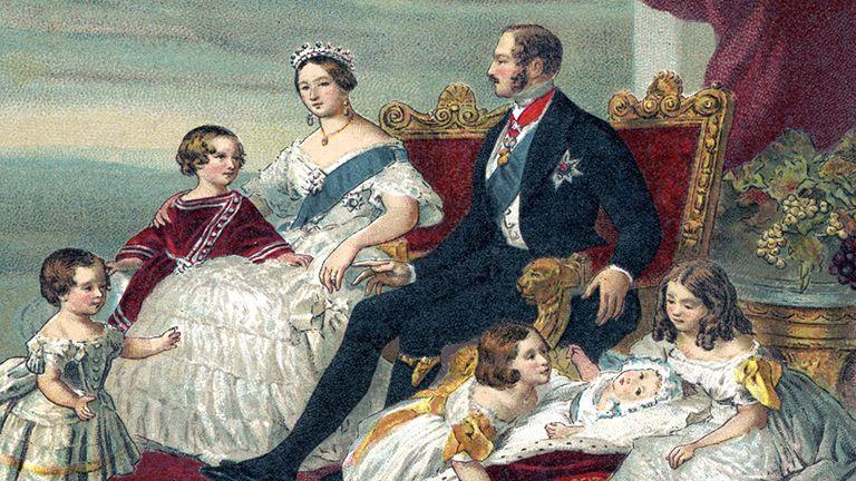 Viktória királyné Albert herceg brit uralkodó király királyné királyi család