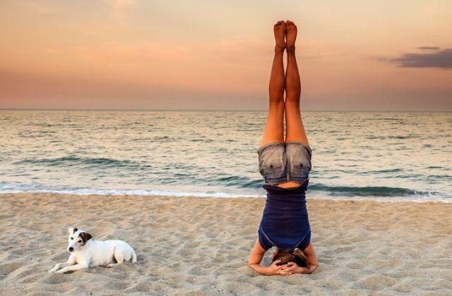 jóga gyakorlat póz ászana stressz oldás