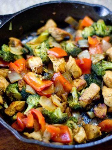 zoldseges csirke recept