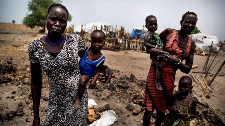 menekültek Dél-Szudán krízis