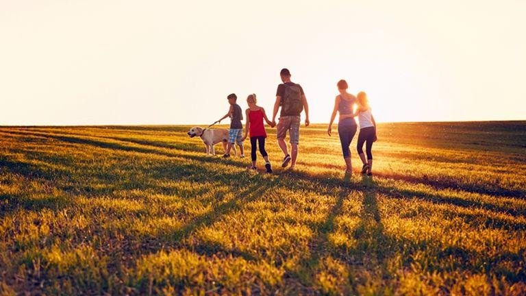 kirándulás családdal