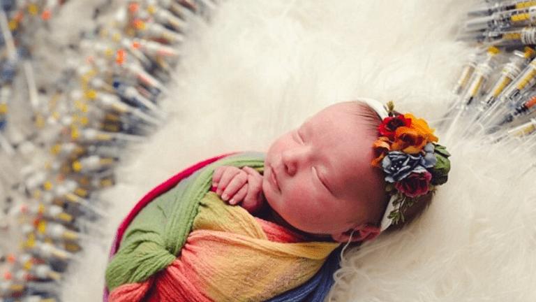 mesterséges megtermékenyítés baba megható fotó